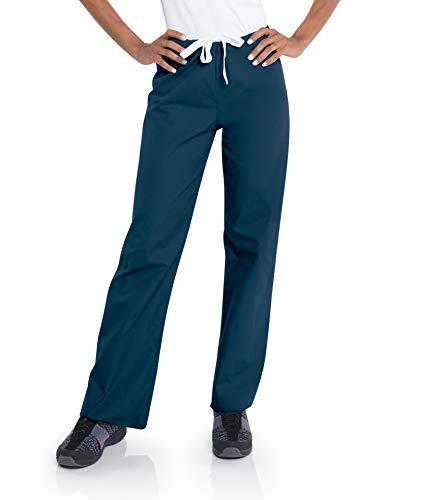 Urbane Essentials Women s Straight Leg Drawstring Scrub Pants-9502 (Navy - Small)
