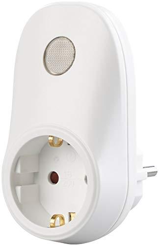 revolt Übergangsstecker: Steckdosen-Adapter mit Lichtsensor, 230 Volt, 690 Watt Schaltleistung (Zwischenstecker mit Lichtsensor)