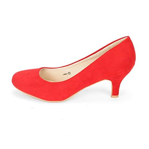 DREAM PAIRS LUVLY Zapatos de Tacón para Mujer Rojo 38 EU/7 US