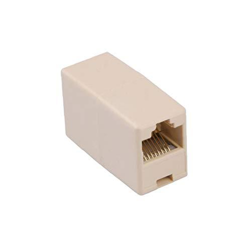 OMMO LEBEINDR RJ45 Kupplung Stecker Netzwerk LAN-Kabel-Ergänzung-Stecker-Adapter Gerade Kopfkabel Joiner Buchse Gerade Modular Inline Connectorfor Convenience