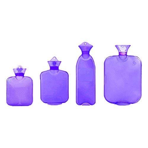 Dir 4Set Hot Wasser Flasche Tasche Transparent PVC, violett