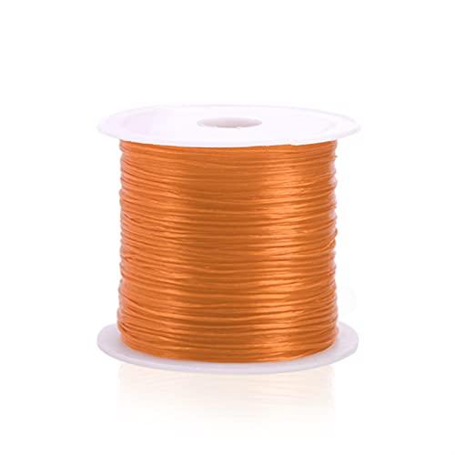 Cuerda de joyería 393 Pulgadas/Rollo cordón de Corte de Cristal para joyería fabricación de 0,7mm de Hilo elástico Cuerda Bricolaje Pulsera Accesorios Hermosa y Duradera (Color : Light Orange)