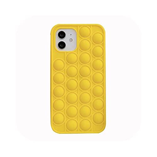 Relive Stress teléfono caso para iPhone 6, 6S, 7, 8 Plus, X XR XS 11 12 Pro Max Pop Fidget Juguetes Push It Bubble Soft Silicone Phone Cover - 59-para iPhone 12 Pro
