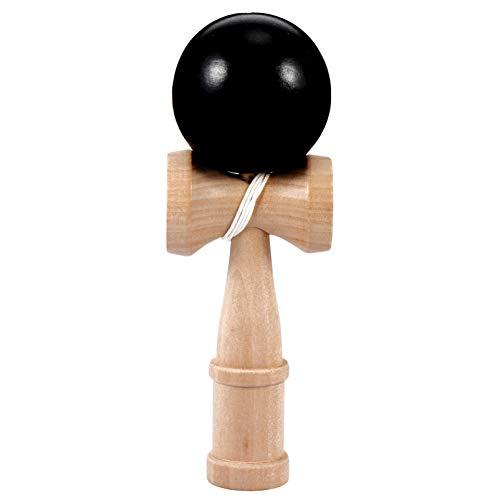 BESPORTBLE Kendama Spielzeug Holz Japanisches Traditionelles Holz-Spielzeug Kugel-Spiel Geschicklichkeits-Spiel für Anfänger Geschenk Kinder Pädagogisch Spielzeug (Schwarz)