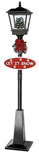 foolonli Schneiende Stand LED Laterne 180 cm Schwarz Weihnachtsbaum Tanne geschmückt