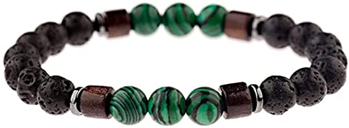 Pulsera china Pulsera hecha a mano Feng Shui Pulsera de piedra Mujer, 7 chakra natural verde tigre ojo de piedra de piedra de piedra de piedra, piedra, elástico, brazalete, joyería, joyería, oreja, yo