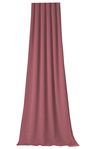 NOVUM fix Gardine Vorhang für Verdunkelung & Thermoeffekt * Lavendel* XXL bis 350cm hoch * MASSANFERTIGUNG * Blickdicht & lichtundurchlässig * ca. 145 cm Stoffbreite * Kräuselband *Made IN Germany