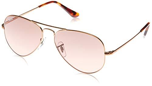 RayBan RB3689 Metal II Evolve Aviator Sunglasses Copper/Photochromic Red Gradient 58 mm