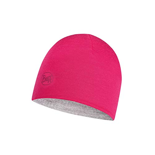 Buff Wild Bonnet Reversible Laine mérinos Lightweight Jr Fille Rose FR : Taille Unique (Taille Fabricant : Taille One sizeque)
