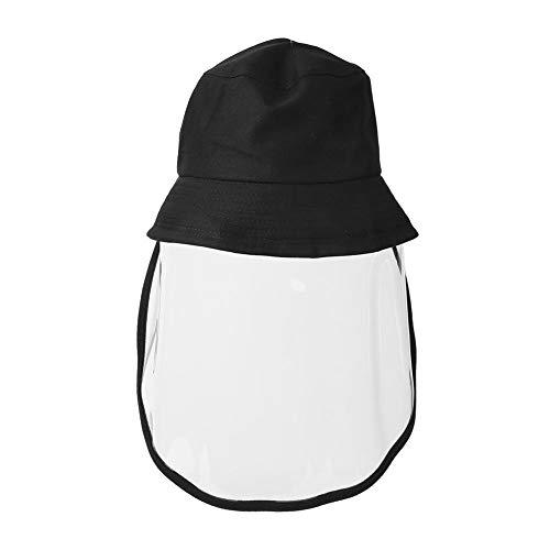 Gezichtsbeschermende hoed, zon- en stofdichte vissershoeden met transparant anti-speeksel gelaatsscherm, volledige gezichtsbescherming voor mannen en vrouwen