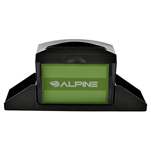 Alpine Industries Tabletop Fullfold Napkin Dispenser with Caddy - Heavy Duty Commercial Restaurant Napkin Holder with Condiment Holder