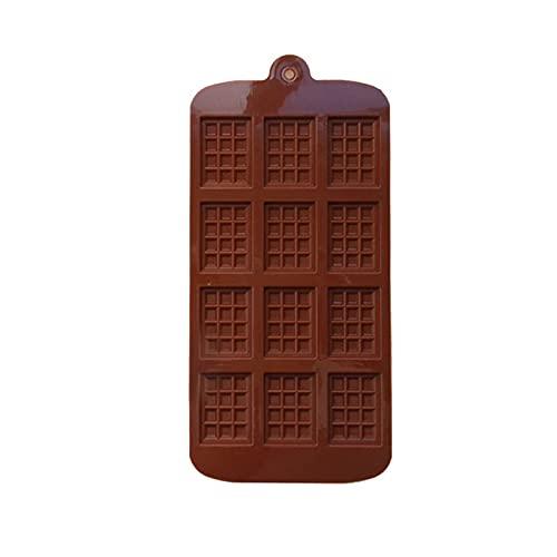 Elnker 12 Taza de Taza de Waffles Molde de Molde para Hornear para Hornear Muffin Chocolate de Silicona Molde de Molde Bizca para Hornear DIY Modelo de Herramientas Modelo