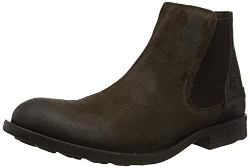 camel active Herren Check 13 Chelsea Boots, Beige (Taupe/Mocca 6), 45 EU