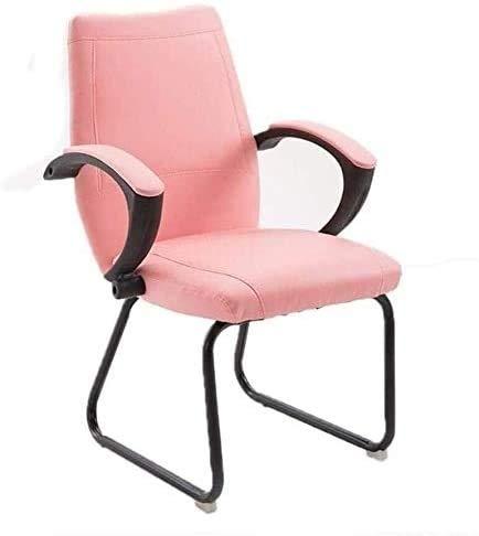 Wlnnes Home Office silla de escritorio Silla de oficina ergonómicas rosa del dormitorio de la silla for las niñas, personal de estudiante de médico giratorio Respaldo jugador del juego Espesar silla f