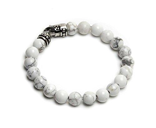ZENGER New York Beaded Bracelet (7.5, Stainless-Steel)