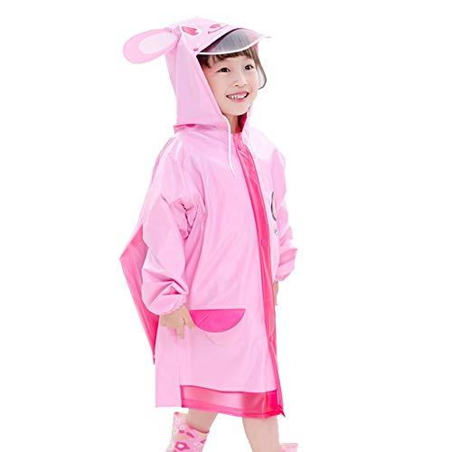 Enfants Rain Jacket - Raincoat Transparent Stylish Enfants avec Chapeau Astuce Conception Tassel Convient for Les garçons et Les Filles 80-145 Grand (Color : #05, Size : XXXXL)