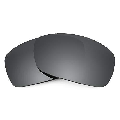 Revant Ersatzgläser Kompatibel mit Oakley Hijinx, Polarisiert, Elite Schwarz Chrome MirrorShield