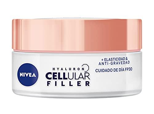NIVEA Hyaluron Cellular Filler, Elasticidad Antigravedad Cuidado de Día FP30 (1 x 50 ml), crema de día con ácido hialurónico, crema reafirmante, crema antiedad