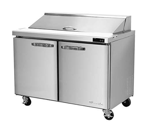 Blue Air BLPT36-HC Two Doors 36' Refrigerated Sandwich/Salad Prep Table, 9.5 cu. ft