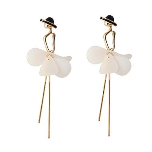 N/A Mode Quaste Anhänger Ohrringe Nette Romantische Acryl Lange Tanzen Mädchen Ohrringe Minimalistischer Stil Baumel Ohrringe Frauen Schmuck B.