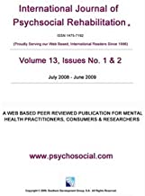 International Journal of Psychosocial Rehabilitation - Volume 13