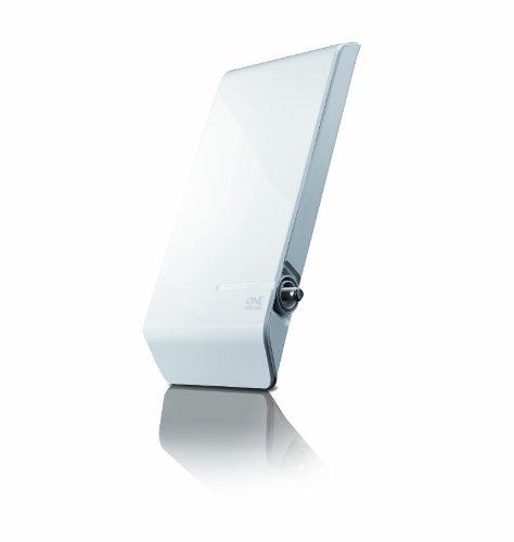 One For All DVB-T/DVB-T2 Outdoor/Außenantenne - Full HD/HDTV Fernseher TV Antenne mit Verstärker - 0-25 km Reichweite – 6 meter Koaxialkabel - UHF - weiß - SV9450