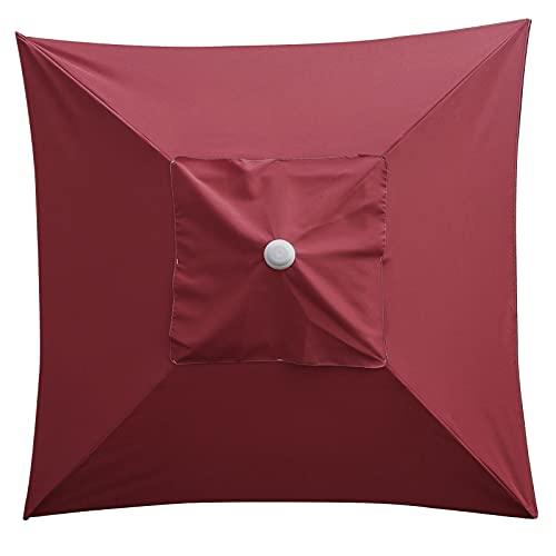 HanOBC 2 m fyrkantigt parasoll för uteplats, ersättning för baldakin marknadsbord paraply baldakin för 4 stag Sunbrella anti-UV utomhus parasoll reservdel (endast taken!)