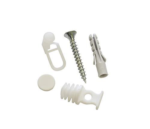 Gardinia Vorhangschienen Zubehör-Set, Kunststoff, weiß, 0.1