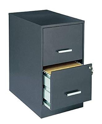 "Lorell SOHO 22"" 2-Drawer File Cabinet LLR16871"