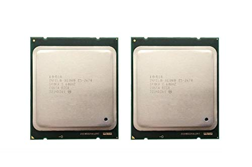 Intel Xeon E5-2670 - Procesador de ocho núcleos (2,60 GHz, 20 MB, Smart Cache 8.00 GT/S QPI TDP 115W SR0KX BX80621E52670 (reacondicionado certificado)