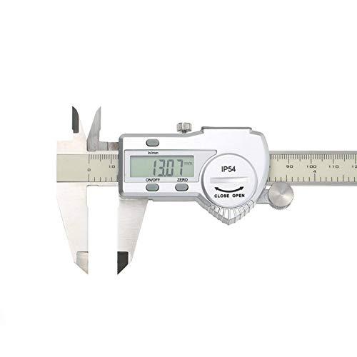 Herramienta De Medición Calibre Digital De Acero Inoxidable Mm/Pulgada Pantalla LCD Calibre Vernier IP54 ImpermeableVernier Caliper Para Profundidad Medición