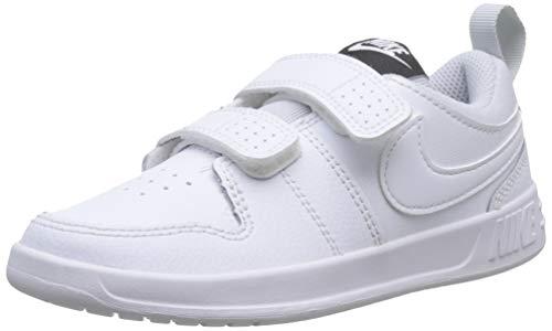 Nike Pico 5 (PSV), Zapatillas de Tenis Unisex Niños, Blanco (White/White/Pure Platinum 100), 28 EU