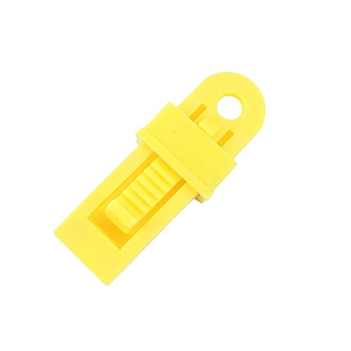 jieGorge Tarp Clips Locking Awning Clamp Snap Hangers Survival Emergency HEAVY DUTY, Camping & Hiking Sales, for Halloween Day (Yellow)