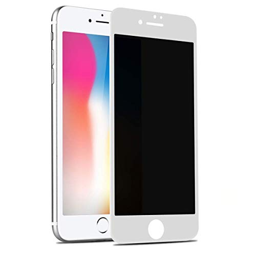 BENKS Cristal Templado iPhone 8 Plus/7 Plus Anti Espía, Privacy 3D Cobertura Total Copertura Vidrio Templado Protector de Pantalla para iPhone 7 Plus/iPhone 8 Plus 5.5 Pulgadas - Blanco