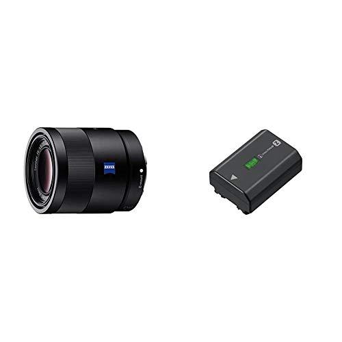 Sony SEL-55F18Z Zeiss Standard Objektiv (Festbrennweite, 55 mm, F1,8, Vollformat) schwarz & NP-FZ100 Akku (InfoLITHIUM-Akku Z-Serie, 7,2V/16,4Wh (2280 mAh), schwarz