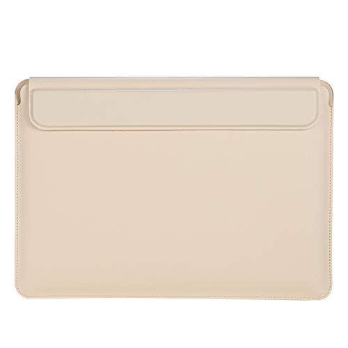 3 in 1 Laptop Sleeve Compatible with 13-16 inch MacBook Pro, MacBook Air, Waterproof Notebook Computer Bag Case with Lapto Stand, Beige,14 inches
