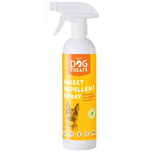 Natural Dog Treats Repelente de Insectos para Perros, Veterinario Aprobado, contra Mosquitos, Pulgas, Garrapatas, Chinches y Ácaros, Natural con Citronela, 500 ml