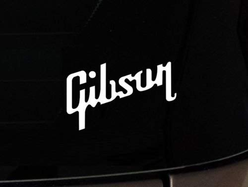 Gibson USA Guitar Vinyl Decal Sticker Les Paul for Car Laptop Guitar Case Etc, Die Cut Vinyl Decal for Windows, Cars, Trucks, Tool Boxes, laptops, MacBook - virtually Any Hard, Smooth Surface