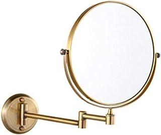 مرآة مكياج دوارة قابلة للطي وقابلة للطي تثبت على الحائط بجانبين مرآة مستحضرات التجميل 360 درجة 20.32 سم