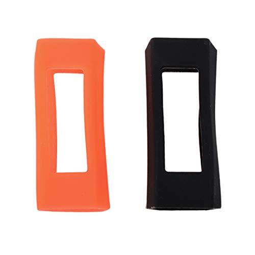 Capa protetora de relógio de silicone compatível com Fitbit Alta HR/Alta da Nicerio, 2 peças, compatível com Fitbit Alta HR/Alta (branca, rosa), 4*1.2 cm, Black, Orange