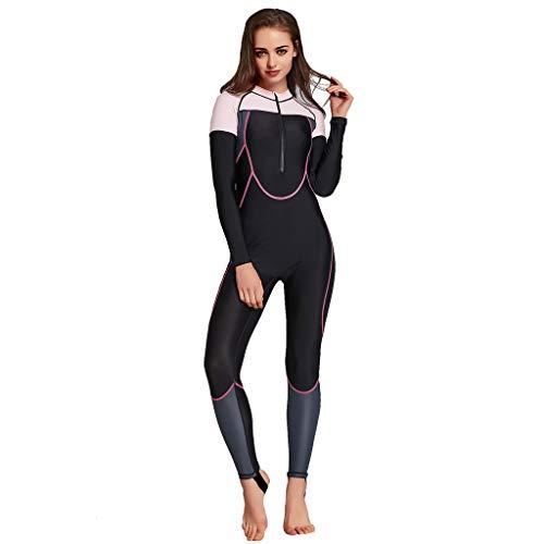 Cardith - Tuta da Nuoto da Donna, in Neoprene, con Protezione UV, per Sport Acquatici, Surf, Crema Solare, Snorkeling a Maniche Lunghe 02 Blu. XXL