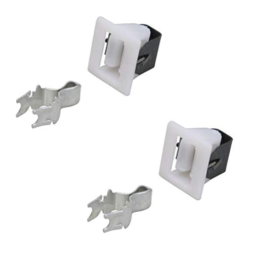 (2 Pack) Dryer Door Catch and Latch Kit For Maytag, Amana, Whirlpool, Frigidaire, Kenmore, Speed Queed, Admiral, Roper and more