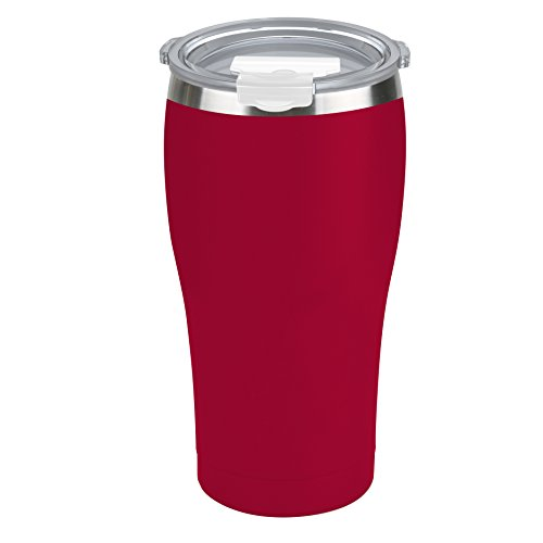 Tahoe Trails 30 oz Stainless Steel Tumbler Vacuum Insulated Double Wall Travel Cup With Lid, Chinese Red