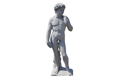 Antikes Wohndesign Adonis Steinfigur Griechische Statue David Figur Michelangelo Gott der Schönheit Höhe: 170cm