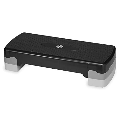 Gaiam Essentials Exercise Step Platform Aerobic Stepper Bench, Fitness Equipment Workout Deck with Adjustable Riser Height & Non Slip Textured Surface