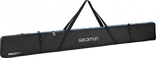 Salomon Langlauf-Skisack für 3 Paar Ski (bis 215 cm), Nordic 3 PAIRS 215 Ski Bag, schwarz (black/Process Blue), L38299900