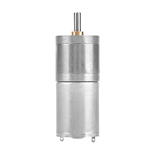 Motor de caja de engranajes de metal, DC 12V 25GA-370 25 mm de par grande, baja velocidad y ruido para cerradura electrónica, robot, cortina eléctrica, puerta eléctrica,etc.(12V 400RPM)