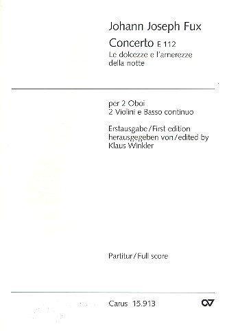 Concerto - 2 Oboe, 2 Violins and BC - SCORE