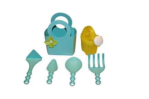 Outils de jardin pour enfant en plastique Set 6 pièces bleu