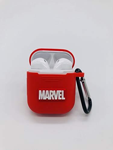 PFEISCO. Trade beschermhoes compatibel met Apple Airpods Case Superhelden Design Cartoon Bluetooth koptelefoon ontwerp vergelijkbaar met Marvel Ironman Batman Spiderman, 4,5 x 5,5 x 2,4 cm, Marvel 15